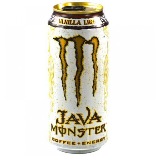 Java Monster Coffee + Energy Drink, Vanilla Light, 15-Ounce Cans (Pack of 12)