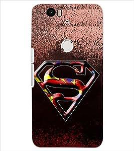 Fuson Superman Back Case Cover for HUAWEI NEXUS 6P - D3676