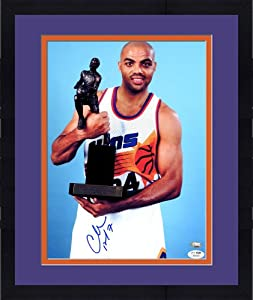 Framed Charles Barkley Signed Phoenix Suns Photo - 11x14 SM - JSA Certified -... by Sports Memorabilia
