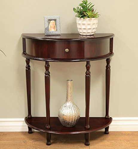Frenchi Home Furnishing Espresso Finish End/Side Table (Moon Table compare prices)