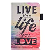 (Surprised) Amazon Kindle Fire Hd 6 2014 Case - Slim Folio Stand Pu Wallet Case Cover for Type Magnet Design Flip Protective Keep Calm and Sparkle Design Pu Leather with Wallet [Stand Feature] [Book Fold] [Ultra Slim] [Light Weight] [Scratch-resistant] [Perfect Fit] [Live the Life] For[2014 Release] an Artistic Design Concise Fashion Beauty Case Cover for Amazon Fire Hd 6 2014 Release (4th Generation) 6'' Hd Display Tablet (Live the Life)