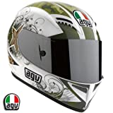 AGV T-2 Warrior Motorcycle Helmet White Large AGV SPA &#8211; ITALY 0351O2A0014009
