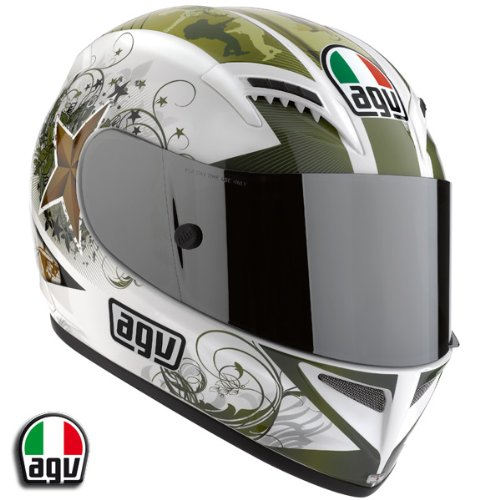AGV T-2 Warrior Motorcycle Helmet White XL AGV SPA – ITALY 0351O2A0014010