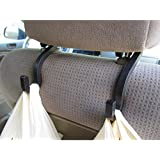 Handy Hooky Car Headrest Hanger Hooks (2) Backseat Organizer Grocery Bag Holder