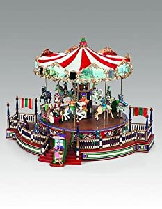 #!Cheap Mr. Christmas Animated & Musical Lighted Holiday Around the Carousel #19951