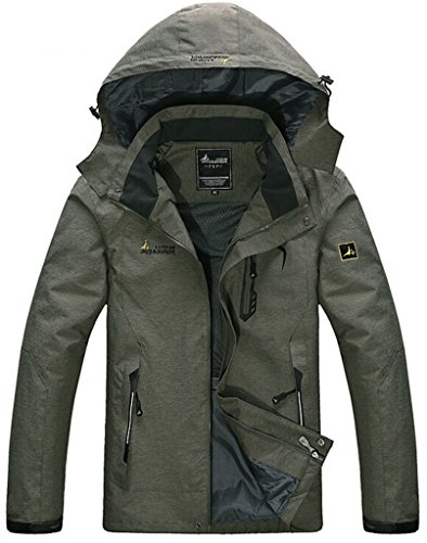 Where Can You Buy WantDo Sportswear Mens Spring FrontZip Hooded Raincoat Outdoor Waterproof Jacket