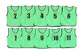 YUTAKA(ユタカ) ビブス サッカーベスト 2-11番号入 10枚セット 小学生用 蛍光オレンジ ジュニア