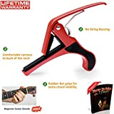 Quick change Guitar Capo (Red) - Single handed use