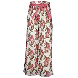 Cutecumber Girls Georgette Floral Dusty Pink Palazzo