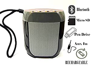Unix Rhythm Series Bluetooth Speaker with Disco lights, USP port, Memory card slot ,FM Radio, AUX in, MIC, Cam Shutter, with rechargeable battery-UNIX-BT-032-Metallic RED