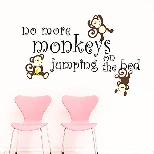 NOmore scimmie intagliato scimmia parete adesivi camera da letto arredamento aereo adesivi murali rimovibile PVC adesivi 61 * 89CM-YU&XIN