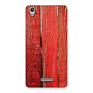 Red Texture Wood Back Case Cover for Lava-Pixel-V1