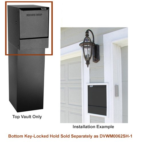 dVault® Wall Mount Package Drop DVWM0062S Secure Mail/Package Drop in Black (Top Only) (Delivery Package compare prices)