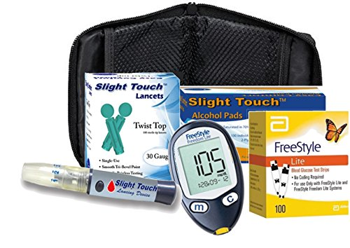 Freestyle Lite Diabetes Testing Kit Meter 100 Test