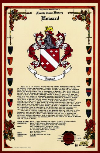 Howard Coat Of Arms/Crest And Family Name History, Meaning & Origin Plus Genealogy/Family Tree Research Aid To Help Find Clues To Ancestry, Roots, Namesakes And Ancestors Plus Many Other Surnames At The Historical Research Center Store front-937906