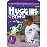 Huggies Overnite Jumbo Size 4 27_Count (Pack of 4)