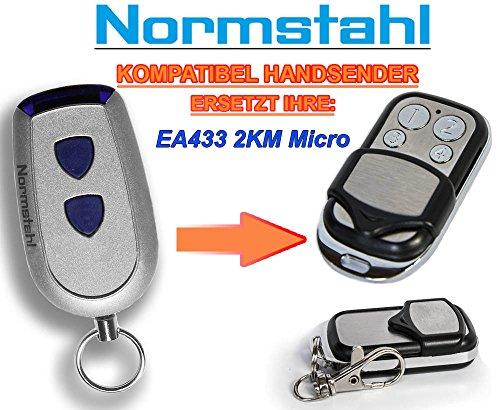 NORMSTAHL EA433 2KM Micro Kompatibel Handsender, 433.92Mhz rolling code keyfob