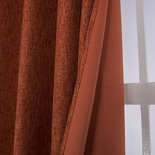 H Versailtex 1 One Panel Heavy Weight Textured Linen Face Blackout Thermal Insulated Curtains
