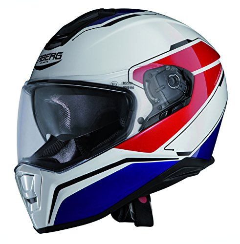 Caberg Drift Tour White/Red/Blue Motorcycle Helmet (Red Drift Helmet compare prices)