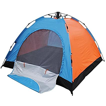 Insasta Automatic Quick Setup 4 Person All Season Waterproof Camping Tent (Color May Vary)