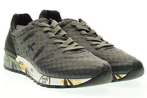 PREMIATA uomo sneakers basse LANDER 1727 42 Blu-grigio
