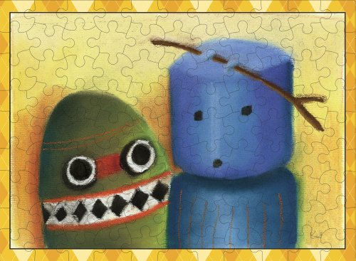 Digit and Boo - 100 Piece Jigsaw Puzzle - 1