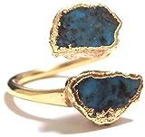 LUXDIVINE ( ラックスディバイン ) アメリカ の キュート ハンドメイド ターコイズ ラップ リング 日本 サイズ 約 16 号 ~ 17 号 ( USA サイズ 7.5 ) Turquoise Wrap Ring 27  トルコ石 ゴールド トルコストーン rings 海外 ブランド