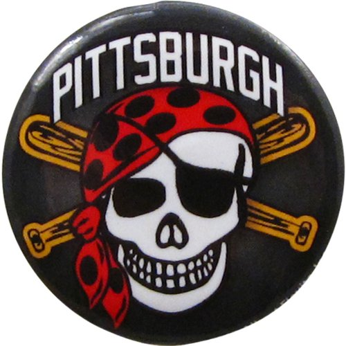 "Pittsburgh Pirates 1.25"" Button Pirate Skull"
