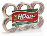 Duck Brand HD  Packaging Tape, 1.88 inch x 54.6 Yard, Crystal Clear, 6 Rolls (CS-55-6pk)