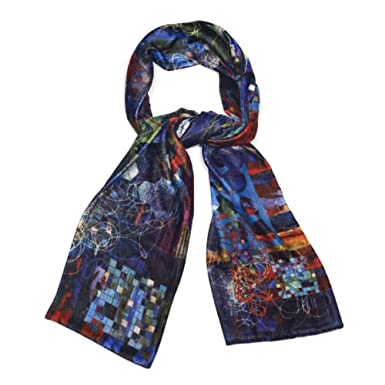 Fireworks Velvet Scarf by Neil Bottle||RF10F