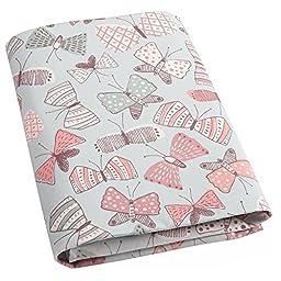 DwellStudio Fitted Crib Sheet, Arden Butterflies