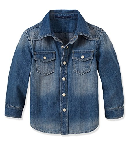 Ruum Little Boys' Denim Shirt Denim 6-9M front-897117
