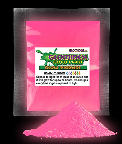 GlominexTM Glow Pigment 1 Oz - Pink Glow in the Dark