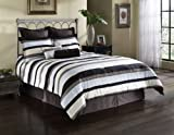 Fashion Bed Group 82EQ712PLC Paramount Palace 11-Piece Comforter and Stuffed Euro Pillow Bed Ensemble Super Pack, Queen