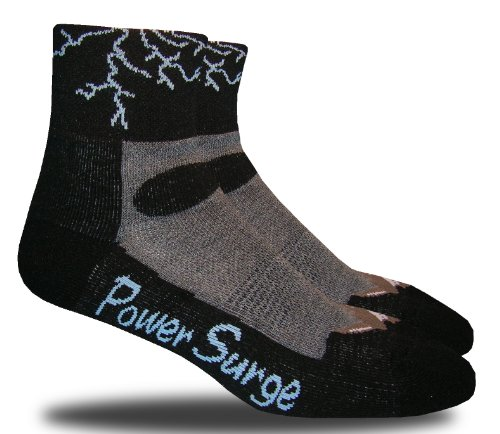 RHINO SOCKS SS series, Power Surge, black/grey, anklet sports cycling biking hiking running socks