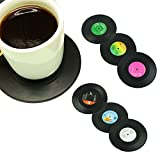 Yafeco 6pcs Creative Vinyl Record Cup Drinks Coaster Holder Mat Placemat