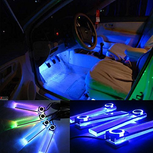 Dayan Abs 4 In1 12V Car Auto Interior Led Atmosphere Lights Floor Decoration Lamp Blue