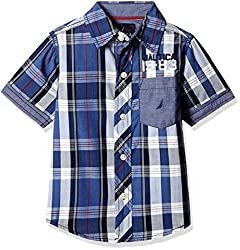 Nautica Kids Boys' Shirt (34B33W416_Navy_14HS)