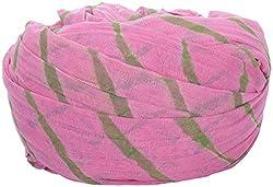 Jodhpuri Fashions Mens Cotton Turban (Pink, 8 Meters)