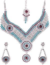 Vishtra Multi-Color Stones Alloy Necklace Set For Women VT11