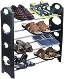 #4: Ebee Easy To Assemble & Light Weight Foldable 4 Shelves Shoe Rack