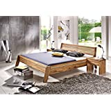 SAM® Massivholzbett Minimal 2 Comfort Bett aus Wildeiche geölt 180 x 200 cm geteiltes Kopfteil, widerstandsfähig...