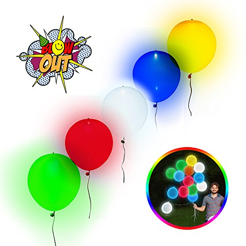 Light Up LED Balloons – Glow in the Dark Up to 18 Hours – Safe for Kids – Futuristic Party Supply / Decorations – Great for Birthdays / Weddings – 5 Pack Multi-Color – 100% Satisfaction Guaranteed!