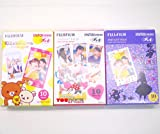 Fujifilm Instax Mini Instant Film 10 Sheets × 3 Packs (RiLakkuma & Disney MICKEY & Friends & Disney Alice in Wonderland) [Komainu-Dou Original Package]