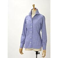 BARBA【バルバ】ギンガムチェックシャツ W58D27RPZ5617 BLUE(ブルー)