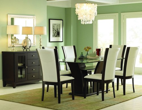 Cheap Homelegance 710-72 Daisy Dining Table with Glass Top (710-72)