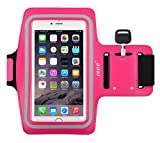 iXCC Racer Series Dual Arm-Size Slots Sporty Gym Armband for iPhone 6splus, 6plus,6s,6,5s, 5,5c and iPod, MP3 Player - Pink