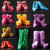 Toy - 10 Pair Mixed High Heel Shoes For 29cm Barbie Doll Clothes Accessories