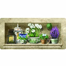 Apache Mills 60-122-1376-20X42 Cushion ComfortHerb Floral Kitchen Mat, 20-inch by 42-Inch