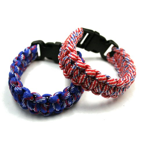Patriot Pride USA Paracord Wristband Bracelet (Sold Individually)